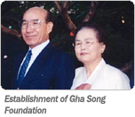 Establishment of Gha Song Foundation